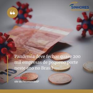 Pandemia deve fechar quase 200 mil empresas de pequeno porte neste ano no Brasil