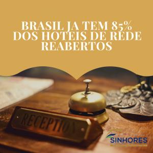 Brasil já tem 85% dos hotéis de rede reabertos